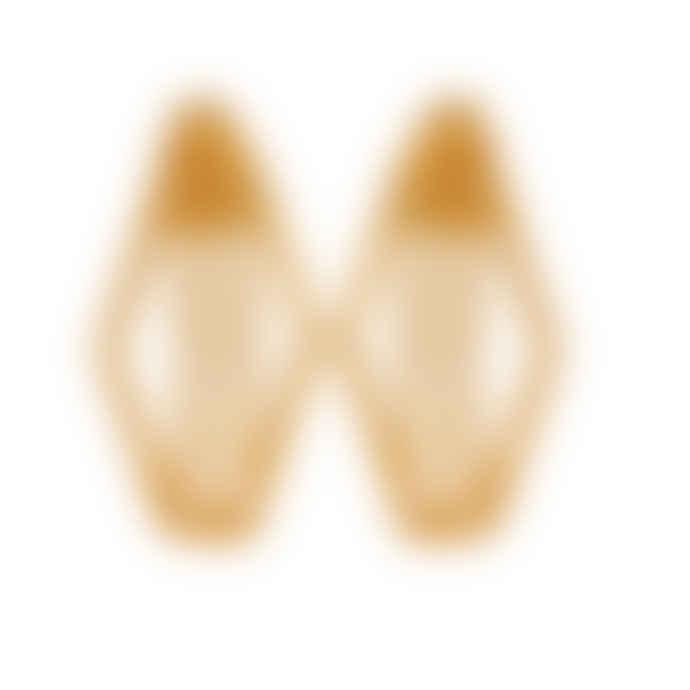 Carousel Jewels  Gold Minimal Diamond-shaped Earrings