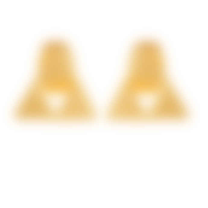 Carousel Jewels  Gold Minimal Triangle Earrings
