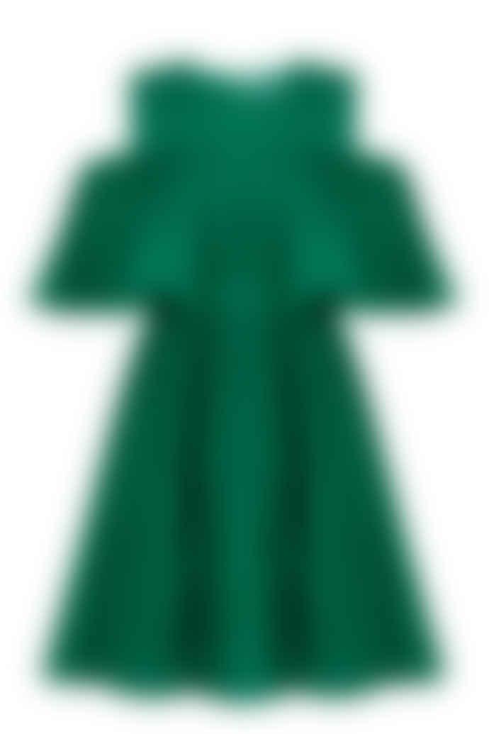 Jovonna London Vera Green Cold Shoulder Dress
