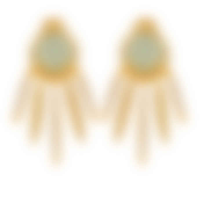 Carousel Jewels  Chalcedony dreamcatcher earrings