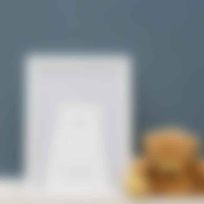 LIGA Pale Blue Clueless Bear Framed Print