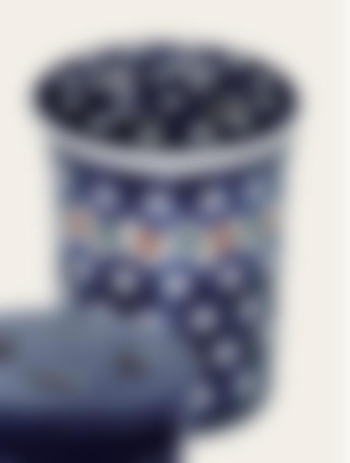 Redecker Dark Pattern Ceramic Bathroom Beaker