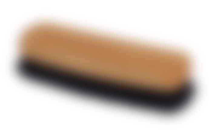 Redecker Oiled Oakwood Shoe Shine Brush With Black Goat Hair Bristle