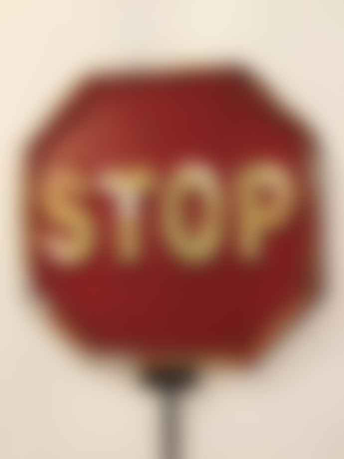 Dutch Imports and Daughters Embossed Metal Stop Sign Hook