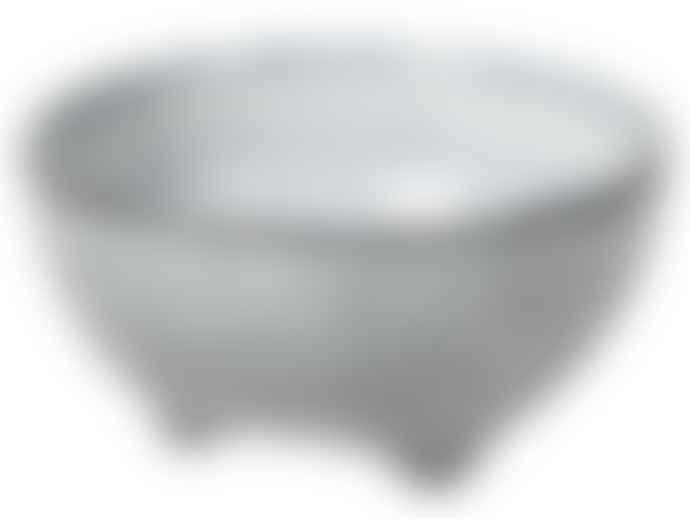 Broste Copenhagen Nordic Sea Stoneware Set of 2 Small Bowls With Feet
