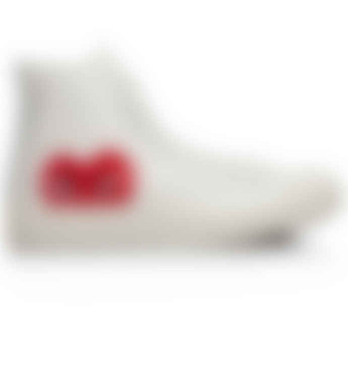Comme Des Garcons Play Converse Chuck Taylor All Star Hi Sneakers