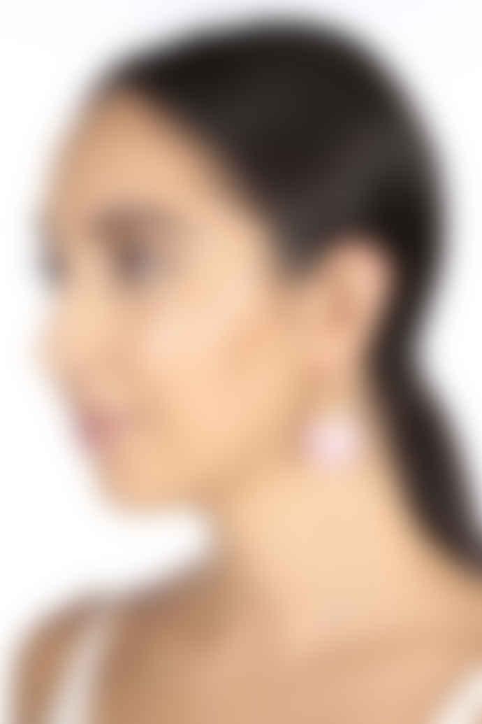 Carousel Jewels  Rose quartz disc earrings