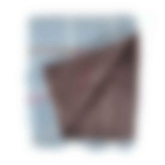 Tweedmill Brown Wool Windowpane Duck Egg  Picnic Blanket