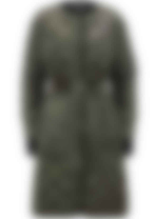 Markus Lupfer Khaki Quilted Single Breasted Liberty Coat
