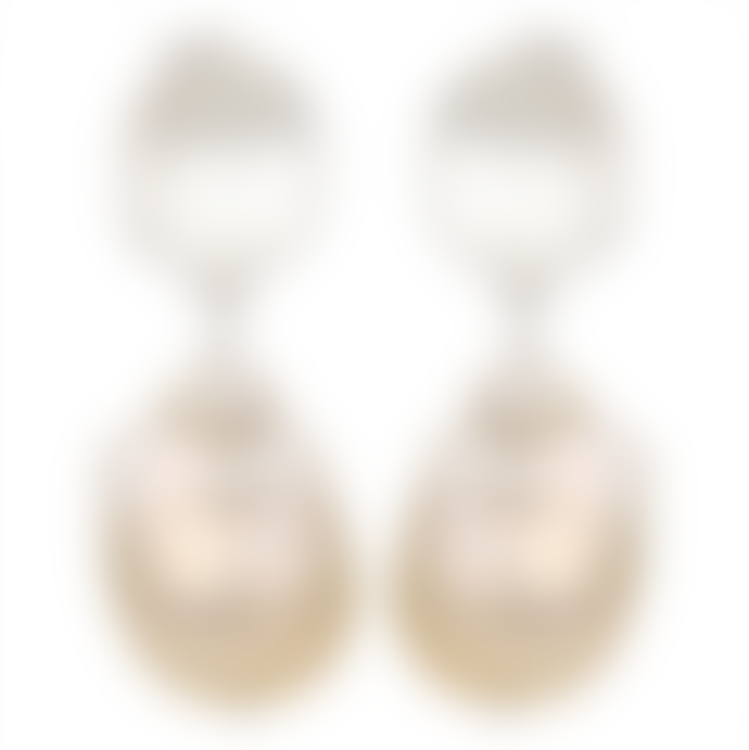 Carousel Jewels  Silver nugget and pearl earrings