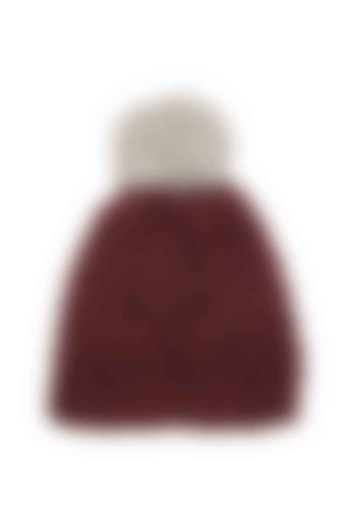 Les 100 Ciels Robin Bobble Hat Knit Kit - Wine