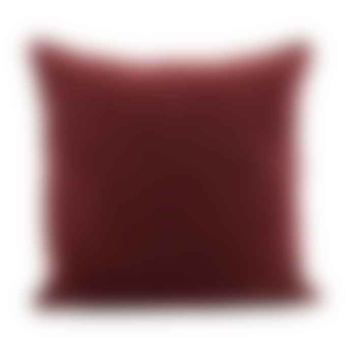 House Doctor Large Burnt Henna Velvet Cushion