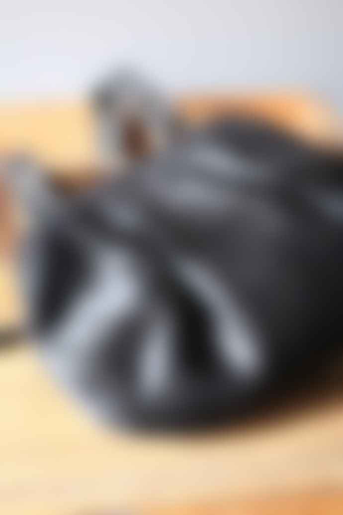 CollardManson Black Hair Frou Frou Clutch Bag