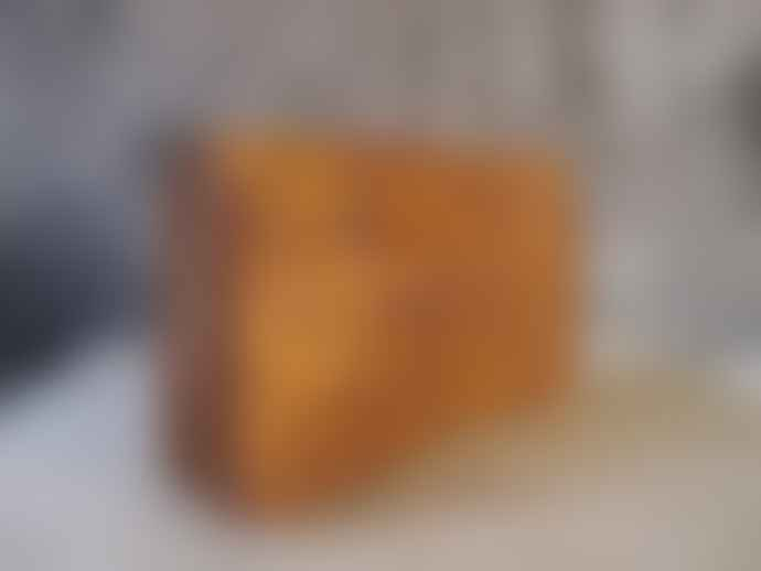 CollardManson Tan Tooled Clutch Bag