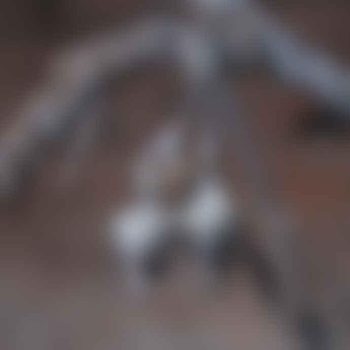 CollardManson Silver Acorn Earrings