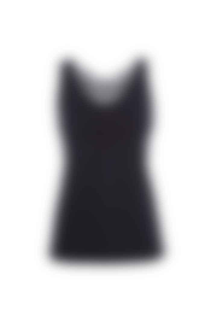 Sapopa Black Lace Racerback Tulipano Tank Top