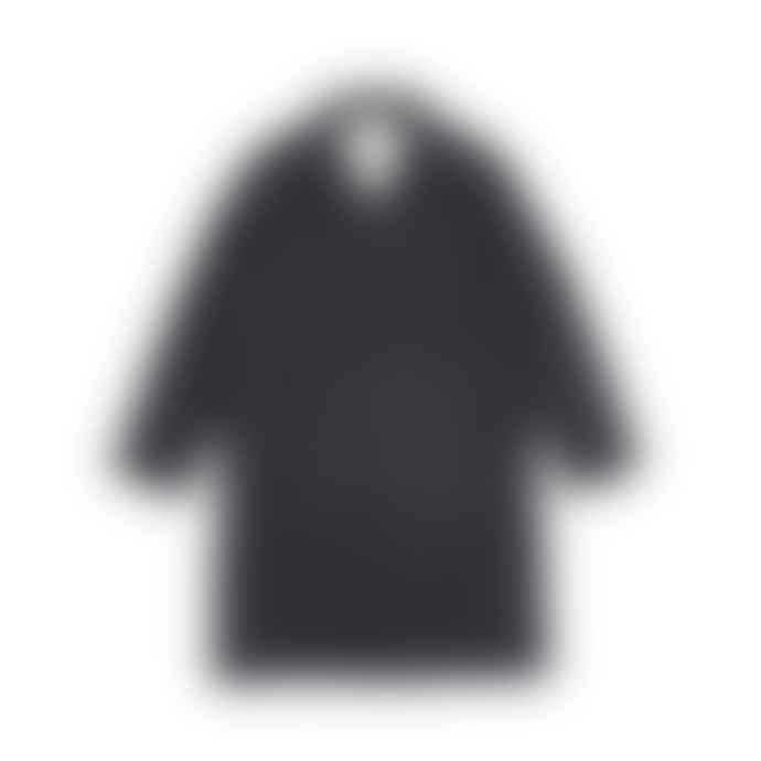 Universal Works Navy Italian Houndstooth Top Coat