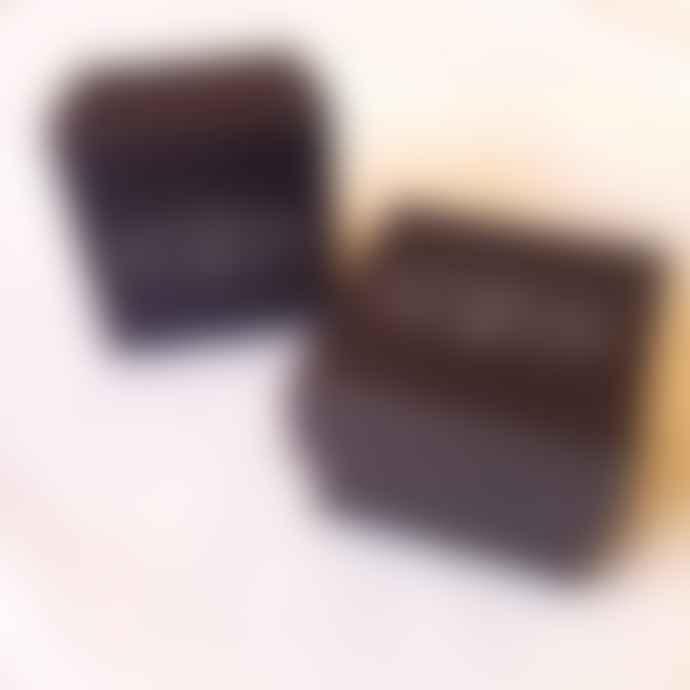CollardManson Rose Gold Curved Drop Earrings