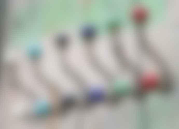 Nkuku Kitu Coloured Ceramic Hooks