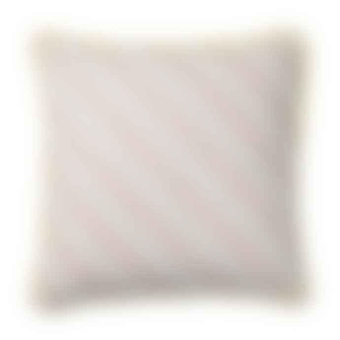 Bloomingville Candy Pink White Stripe Cushion