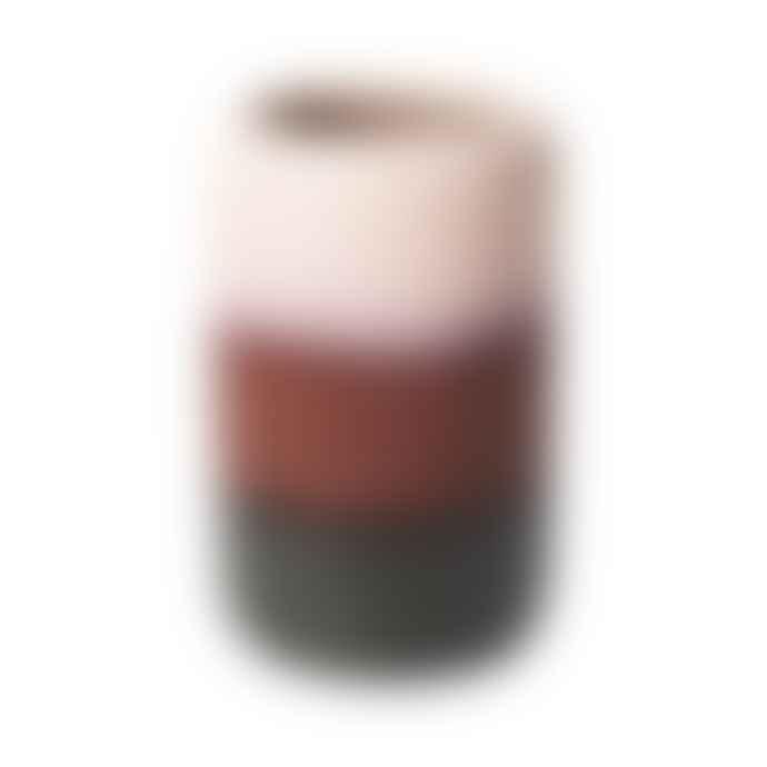 Broste Copenhagen Pink and Red Ceramic 'Lau' Vase