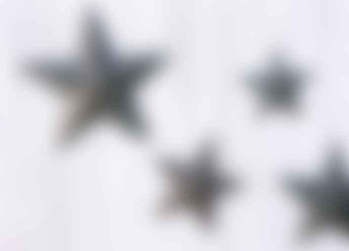 Nkuku Distressed Blue Metal Star Medium