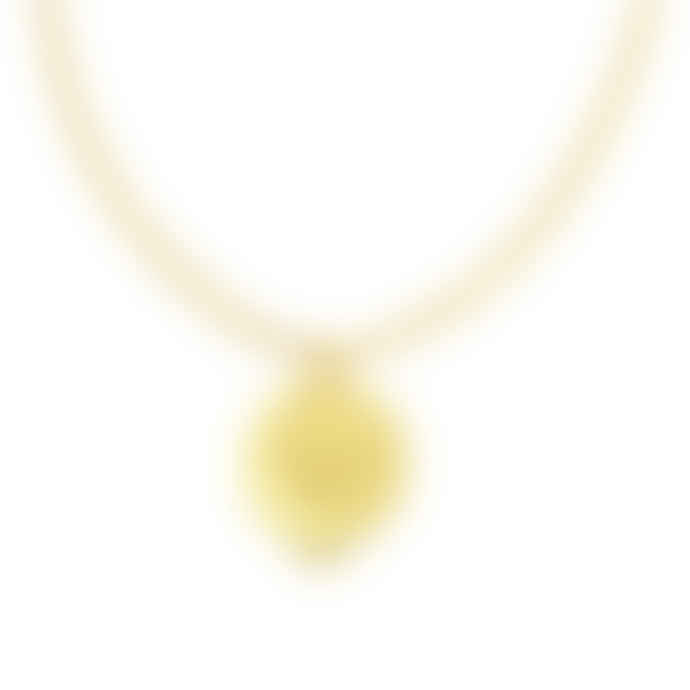 Gold Midnight Sun Locket Necklace
