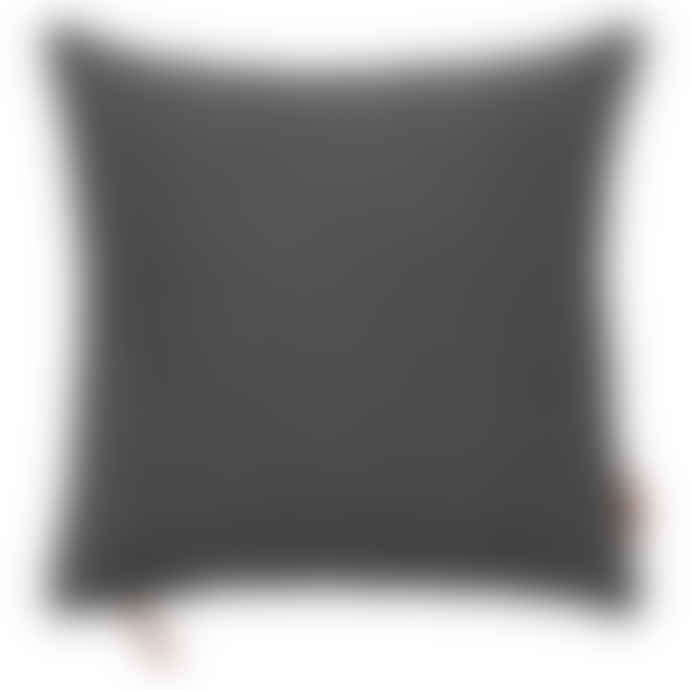 Cozy Living Cushion - Hand loomed cotton Cushion In Cole Grey