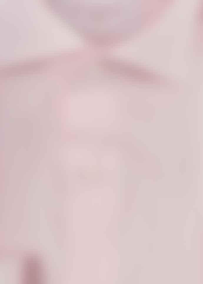 Diverso Pink Pastel Stripe Cutaway Shirt