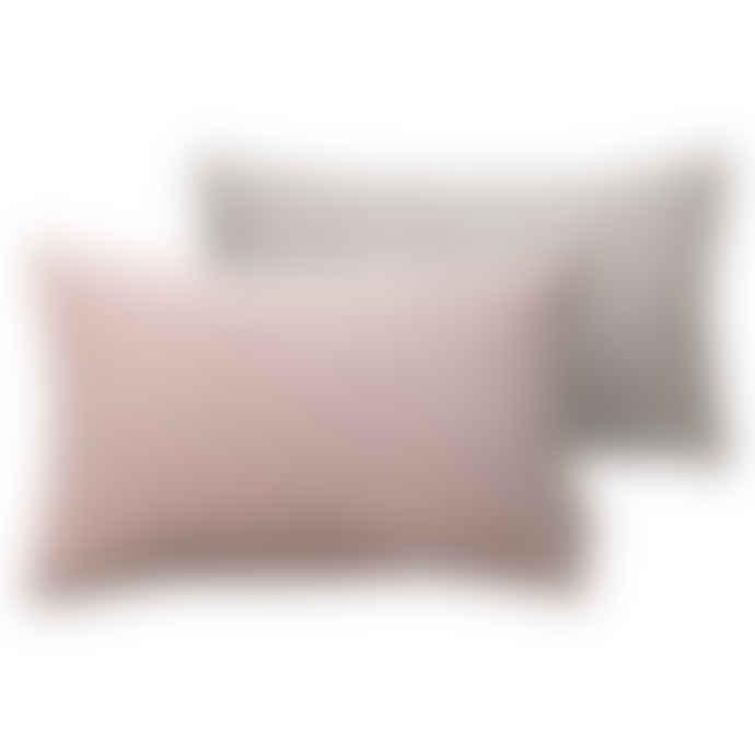 Cozy Living Handmade Cotton Velvet Cushion in Powder Pink