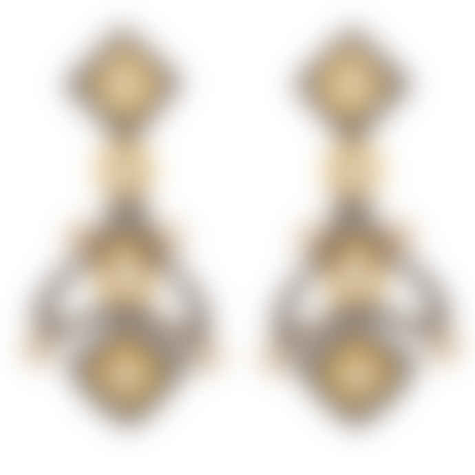 Carousel Jewels  Heritage Gold And Crystal Earrings