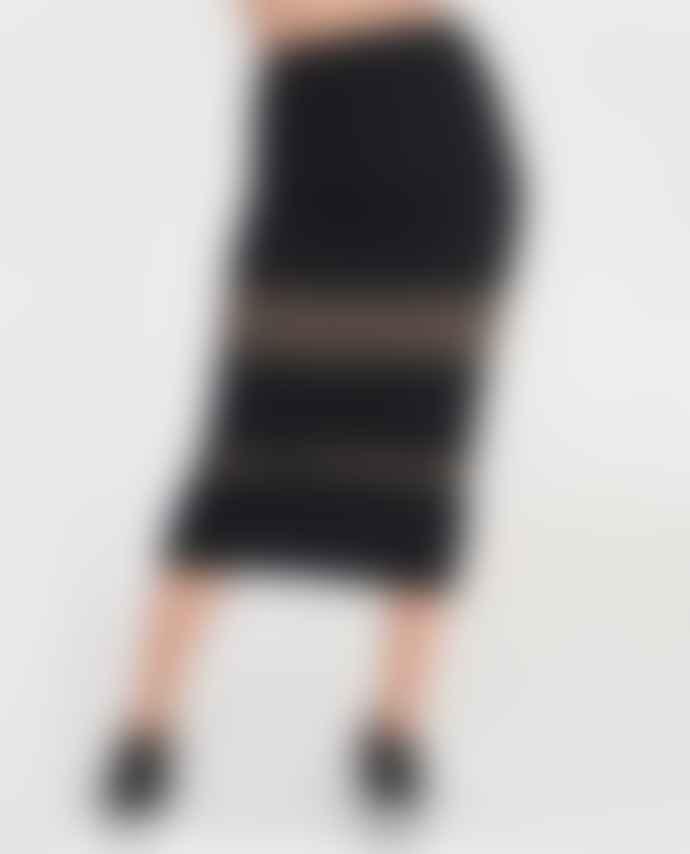 Beaumont Organic Black And Khaki Pam Organic Cotton Skirt