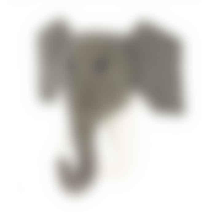 Fiona Walker England Felted Wool Elephant Head Hook