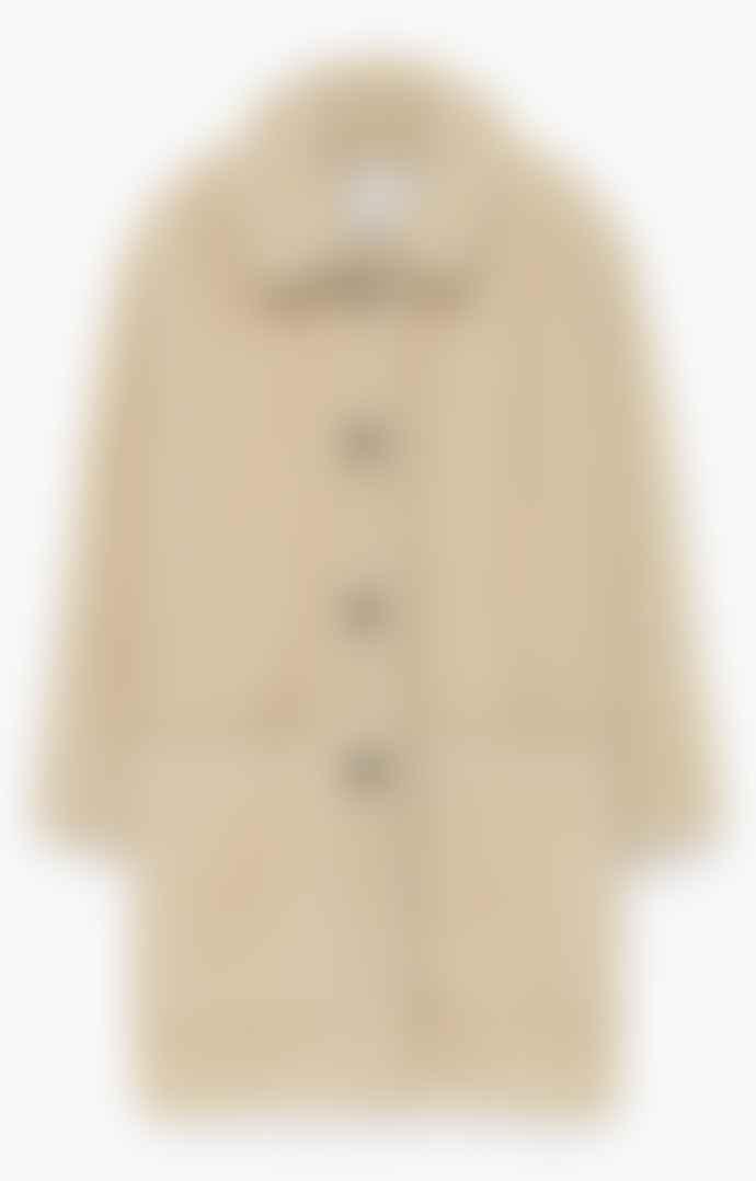 American Vintage Patidole Teddy Coat - Ecru