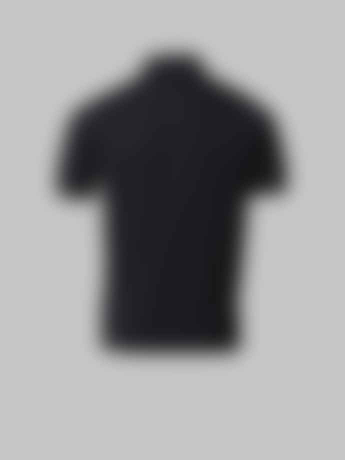 John Smedley Black Adrian Polo Shirt