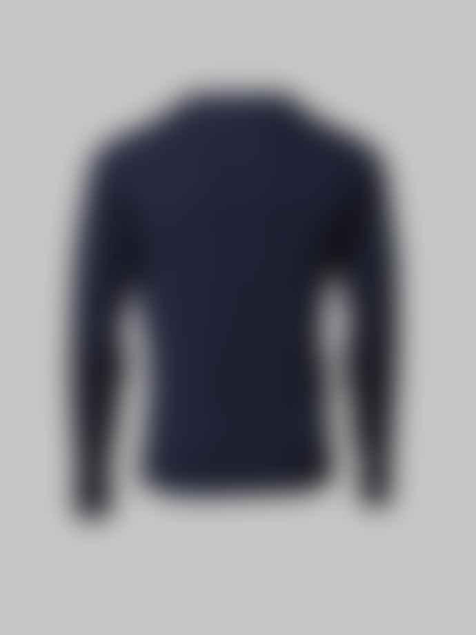 John Smedley Navy Shipton V Neck Knit Shirt
