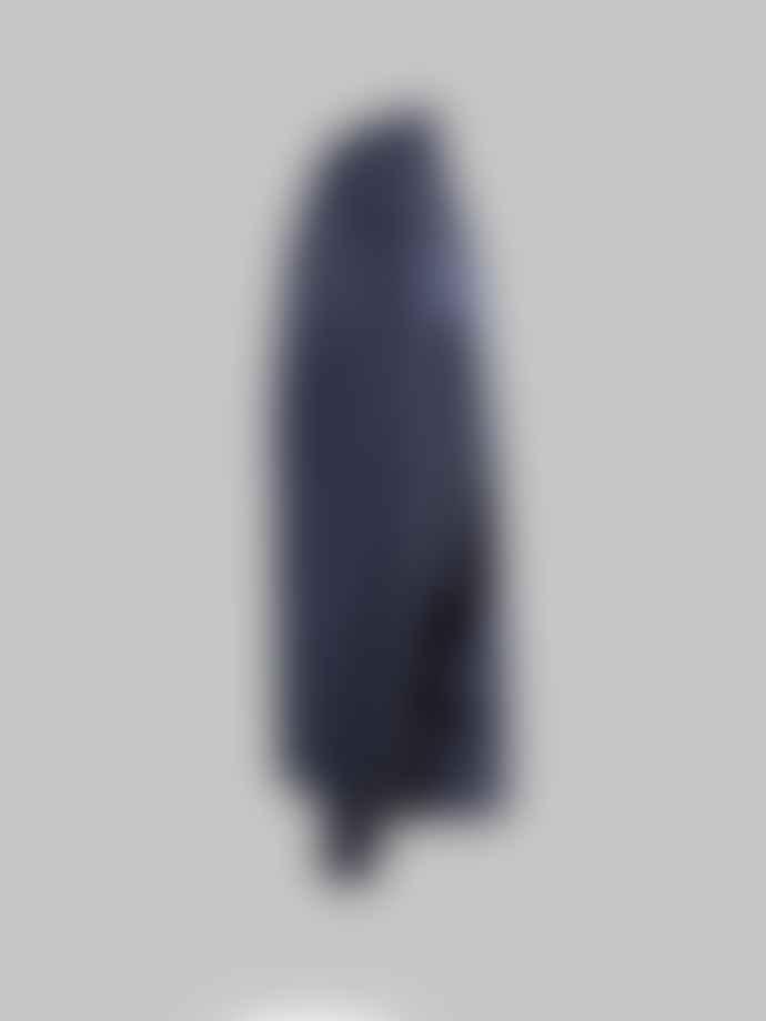 Corneliani Blue and Grey Herringbone Polo