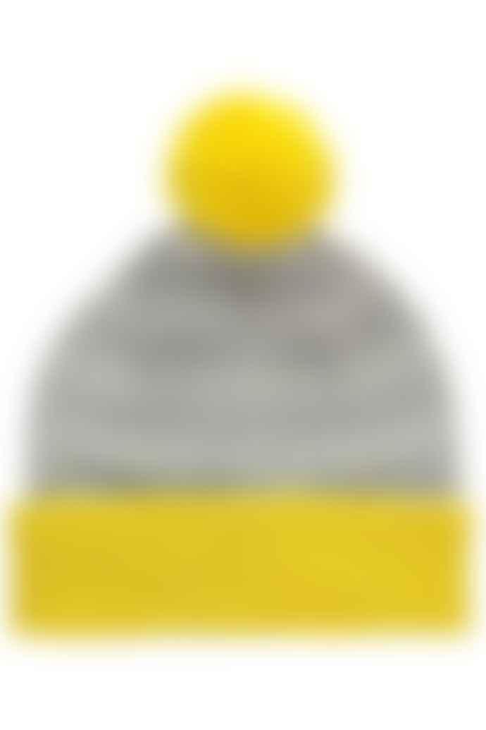 Miss Pompom Yellow Graphic Pompom Beanie