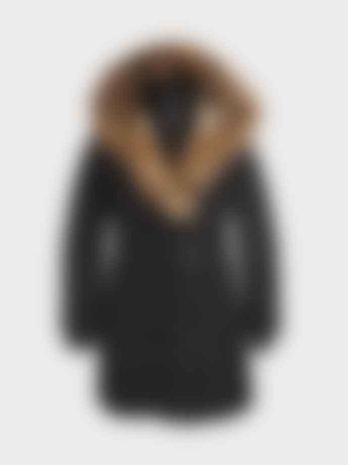 Mackage Black Trish Mid Length Down With Fur Jacket