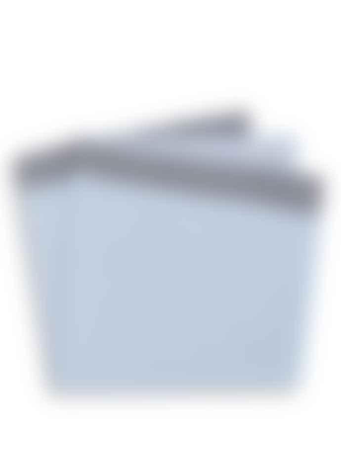 Diverso Sky Houndstooth Trim Pocket Square