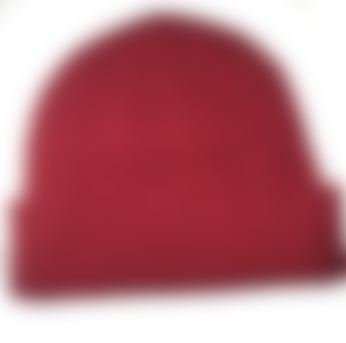 Cuemars Red Merino Wool Beanie