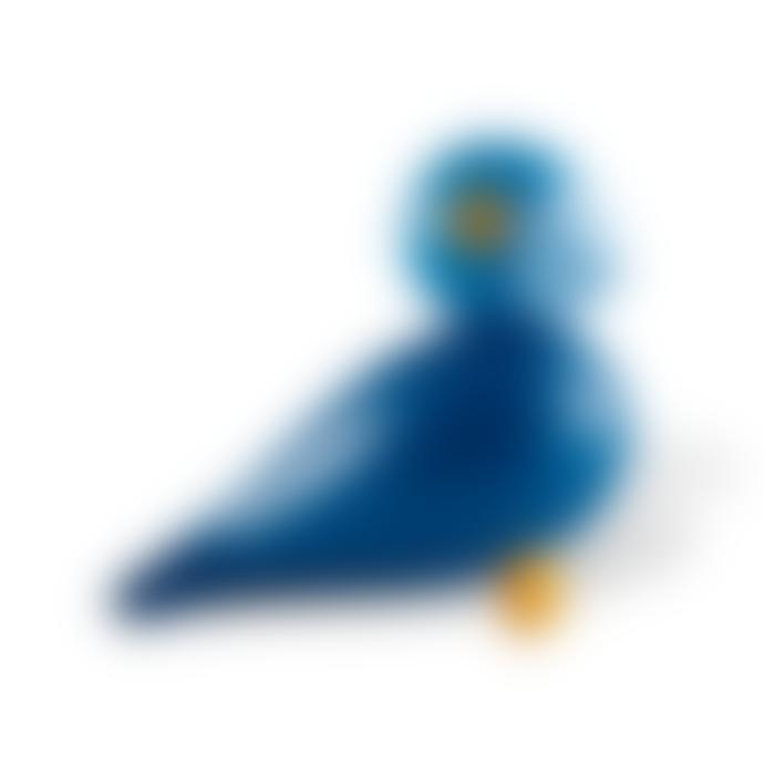 KAY BOJESEN DENMARK Blue Kay Songbird Wooden Ornament