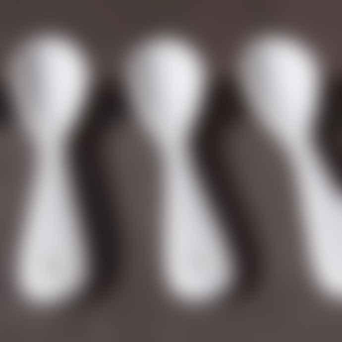 ASA Selection White Six Porcelain Spoons