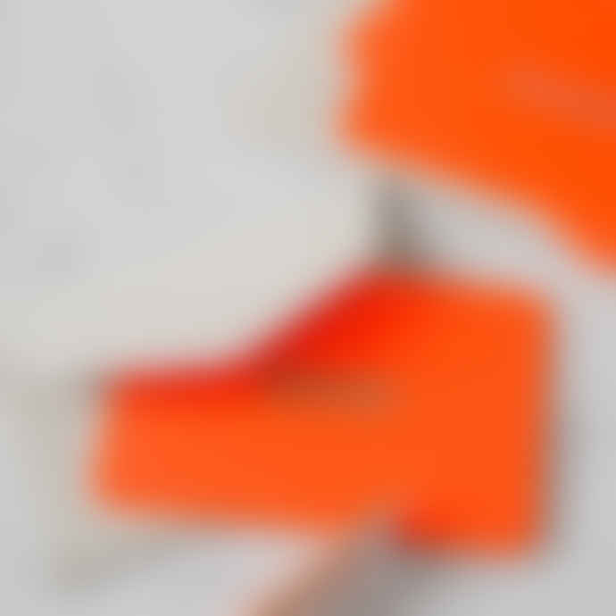 Pack Of 5 Mini Fluorescent Orange Merci Cards