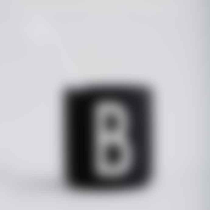 Design Letters Ceramic Black Cup