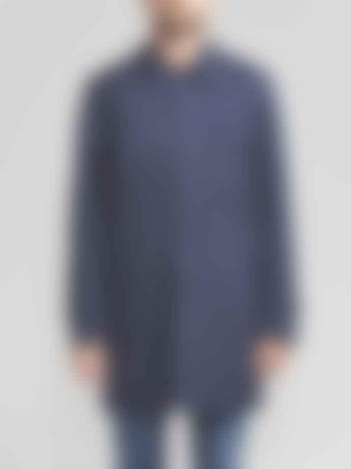 Sealup Navy Woven Coat