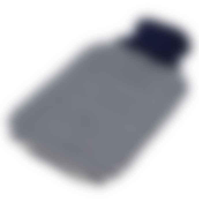 harbour Navy Breton Stripe Knitted Hot Water Bottle Cover