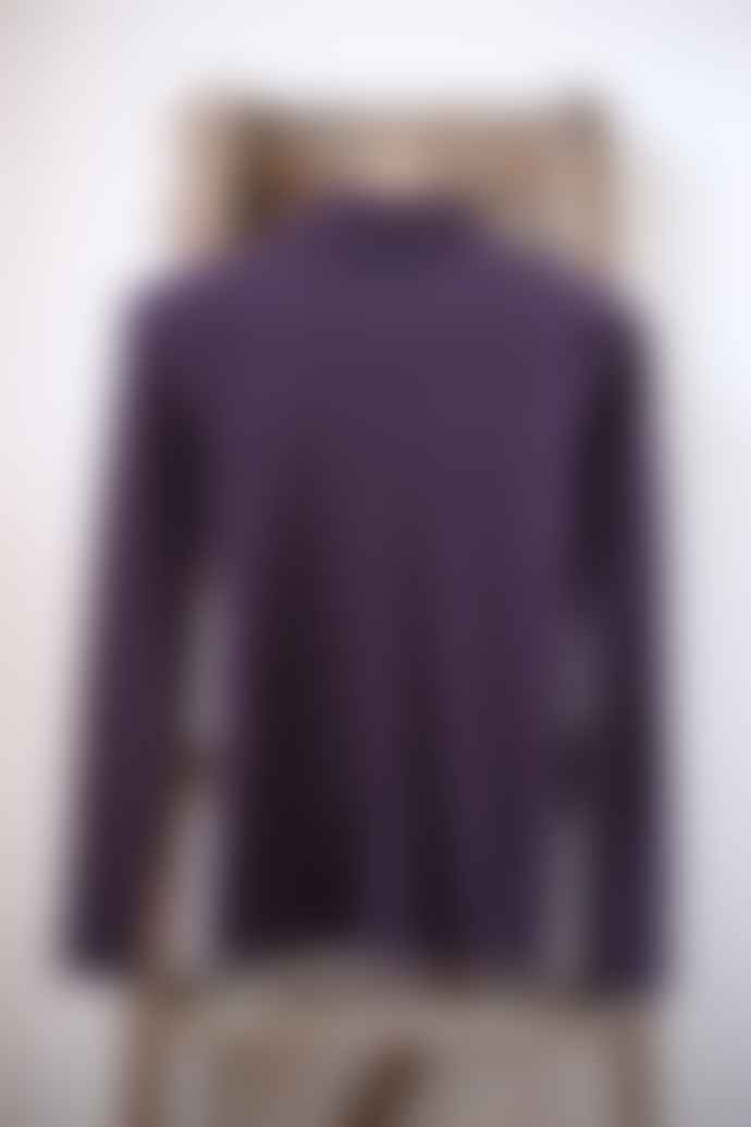 Yerse Purple Polo Neck T Shirt