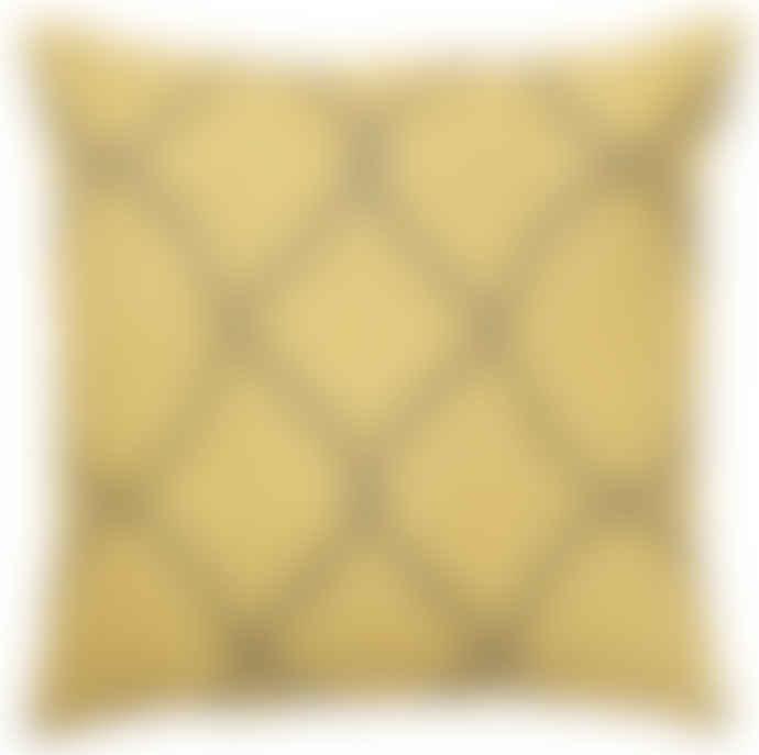 Lewis & Co Tara Spicy Yellow- Grey Cushion