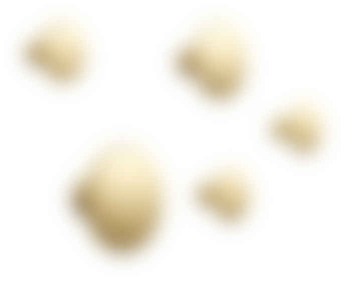 Muuto Dots Set of 5 Brass Hooks